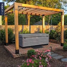 Pergola Kit For 6x6 Wood Posts With Knect 2x6 Top Rafter Brackets Toja Grid In 2020 Pergola Pergola Kits Wood Post