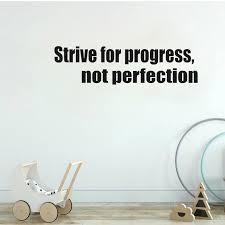Yoja 78cm 18 7cm Strive For Progress Not Perfection Wall Motivational Pvc Wall Sticker Fitness Quote W1 808 Wall Stickers Aliexpress