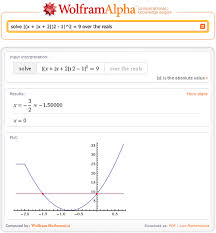 solving equations with wolfram alpha