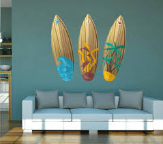 Cik1508 Full Color Wall Decal Board Wave Surfing Hawaii Living Room Be Stickersforlife