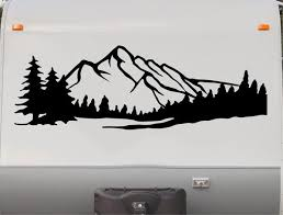 Camper Rv Decals Mountains Replacement Decal Trailer Motorhome Sticker