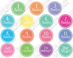 Baby Month Milestone Custom Diy Iron On Vinyl Shirt Or Onesie Decal Cutting File Set In Svg Eps Dxf Jpeg And Png Format