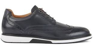 leather derby shoes with sneaker style