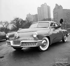 Preston Tucker Driving One Of His Cars by Bettmann