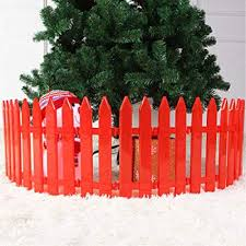 Gubby Christmas Tree Fence White Fence Can Be Spliced Fence Plastic Fence Plastic Fence Christmas Decorations 16 Amazon Co Uk Kitchen Home