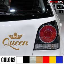 Queen Crown Gold Silver Decal Sticker Car Vinyl Pick Size Color No Bkgrd Die Cut Car Stickers Aliexpress