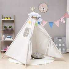 Children Kids Large Wigwam Teepee Tent Play Canvas House Gift Indoor Outdoor Uk Toy Tents Aliexpress