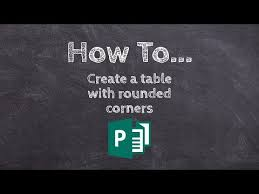 table with rounded corners