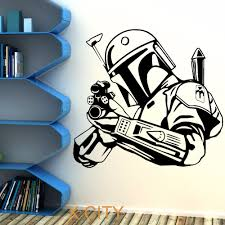 Star Wars Boba Fett Bounty Hunter Wall Art Sticker Decal Removable Vinyl Cut Movie Themed Diy Home Decoration Poster Mural Room Decorative Poster Poster Muralwall Art Stickers Aliexpress