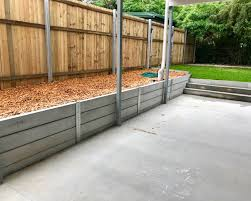 Brisbane Concrete Sleeper Retaining Walls Supply Install