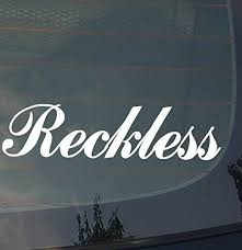 Amazon Com Reckless Car Vinyl Decal Sticker Euro Jdm Racing Turbo Stance Low Arts Crafts Sewing