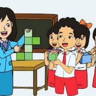 Image result for gambar KARTUN guru mengajar anak SD