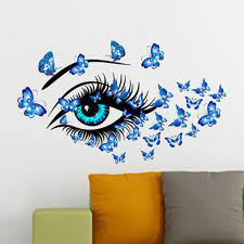New Charming Fairy Girl Eye Wall Sticker Rooms Flower Butterfly Love Heart Wall Decal Bedroom Sofa Decoration Wall Art Fshion Sticker Quotes For Walls Sticker Quotes Wall Decor From Jiayouya 3 83 Dhgate Com