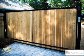 Custom Wood Driveway Gates Atlanta Ga Fence Workshop