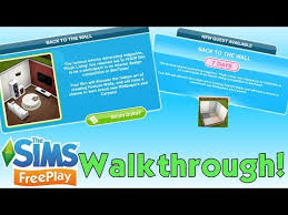 the sims freeplay back to the wall