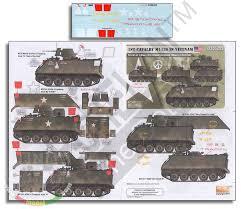 Echelon Fine Details Decals For 1 35 1st Cavalry M113s In Vietnam Americal Division