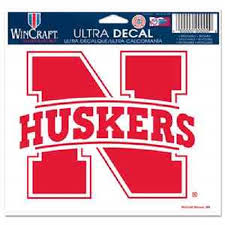 Nebraska Huskers Ncaa Ultra Decal 5 X 6 Logo Resusable Window Wall Cling Sticker Made In