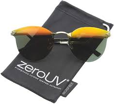 zigzag temples colored mirror lens