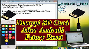 sd card after factory reset android
