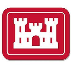 Amazon Com Lpf Usa Rectangular Army Corps Of Engineers Logo Sticker Insignia Castle Decal Automotive