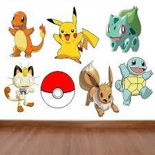Pokemon Kids Bedroom Vinyl Decal Wall Art Stickers 7 Character Selection Ebay