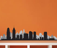 Philadelphia Pennsylvania Skyline Vinyl Wall Decal Or Car Sticker Ss062ey Contemporary Wall Decals By Vinyl Disorder Inc