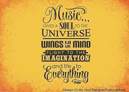 Music Gives A Soul To The Universe Wall Decal Stickers 31 32 Picclick Uk
