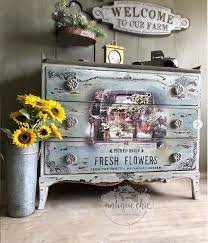 Furniture Decals Fresh Flowers By Redesign With Prima Etsy