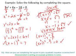 square to put a quadratic