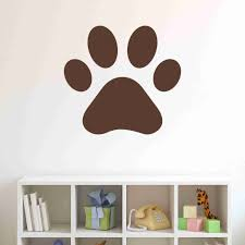 Pawprint Wall Decal Sticker Vinyl Wall Art Nursery Wall Decor Style And Apply