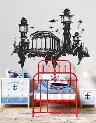 Lost City Of Atlantis Fantasy City Wall Decal Gfoster176 Stickerbrand