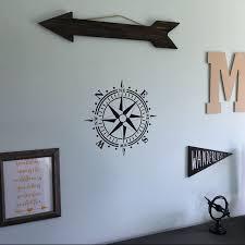 Wall Decal Compass Rose Nautical Beach Sailing Decor