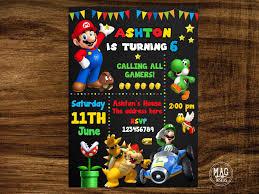 Pin De Party4tots En Invitaciones Mario Bros En 2020