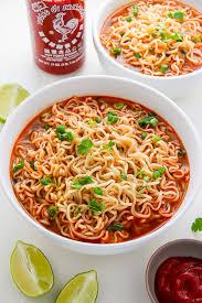 y sriracha ramen noodle soup