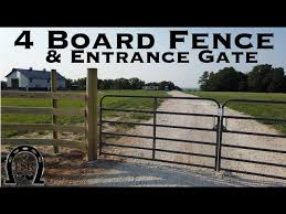 Installing 4 Board Horse Fencing And Entrance Gates Youtube