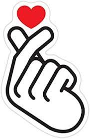 Amazon Com Kpop Finger Heart Love Saranghae Korean 4 Inch Premium Waterproof Vinyl Decal Stickers For Laptop Macbook Phone Tablet Helmet Car Window Bumper Mug Tuber Cup Door Wall Decoration Tumblers Hydro Flask