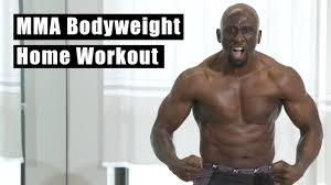 mma bodyweight workout