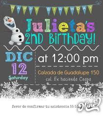 Invitacion Electronica Frozen Nina Invitaciones Festivos Y