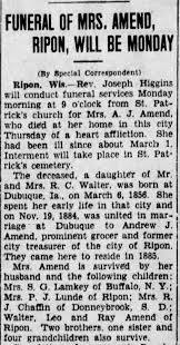Adeline Walters Amend obituary - Newspapers.com
