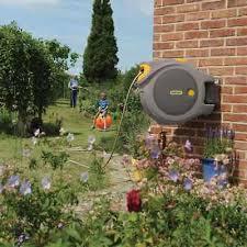 hozelock auto hose reel 40m grey garden