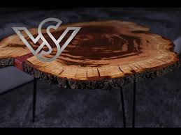 live edge resin coffee table