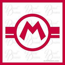 Mario Super Mario Bros Video Game Inspired Vinyl Car Decal B01eybzcn0