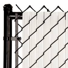 Maximum Privacy White Solitube Slats For 6ft Chain Link Fence Walmart Com Walmart Com