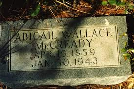 Florida Memory • Close-up view of headstone for Abigail Wallace McCready in  the Koreshan Unity cemetery at the Koreshan State Historic Site park in  Estero, Florida.