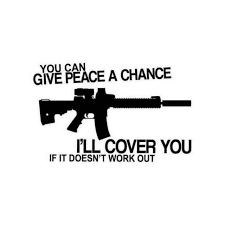 You Can Give Peace A Chance Ar15 M16 Nra Decal Sticker