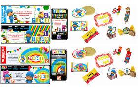 Kit Imprimible De Pocoyo Personalizado 100 Cumplearte