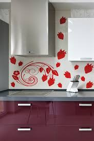 Modern Strawberry Vine Floral Wall Embellishment Accent Wall Decal 32 Colors 5 Sizes Wall Decals