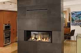 2 sided gas fireplaces white