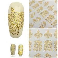 108pcs Gold Rose Flowers Nail Art Manicures Stickers Decal Alexnld Com