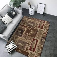 Amazon Com Luxury Modern Area Rug Moose Bear Deer Print Extra Soft And Comfy Indoor Rugs Carpet For Living Room Kids Room Home Decor Carpet 4 X 6 Rug Kitchen Dining